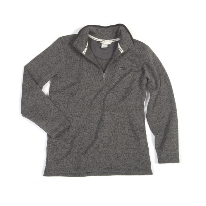 Banded 1/4 Zip Heather Fleece Pullover