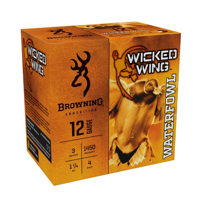 Browning Wicked Wing 12GA 3IN 1.25OZ #4 B193421234