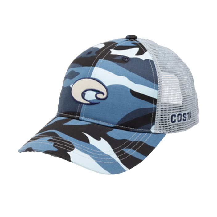 Costa XL Logo Camo Trucker Hat
