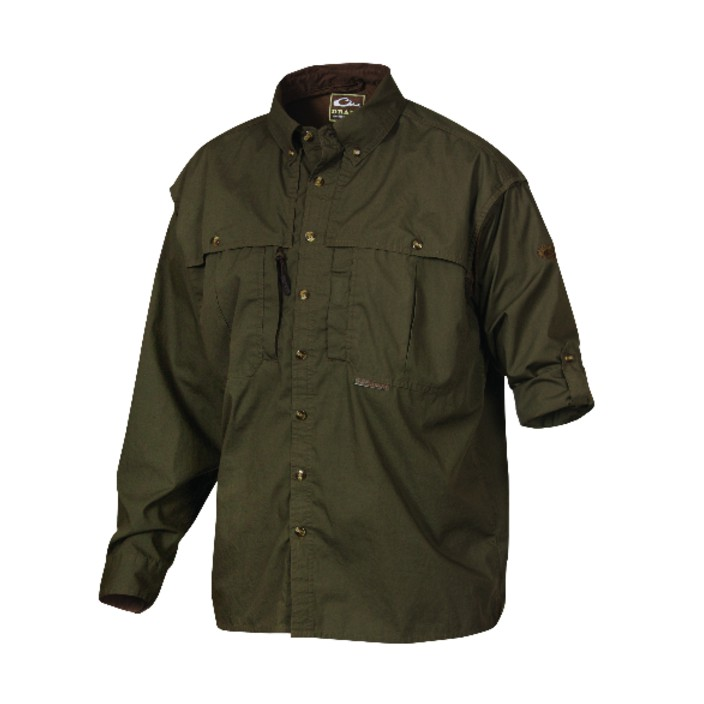 Drake Cotton Wingshooter's Shirt with Staycool Fabric L/S