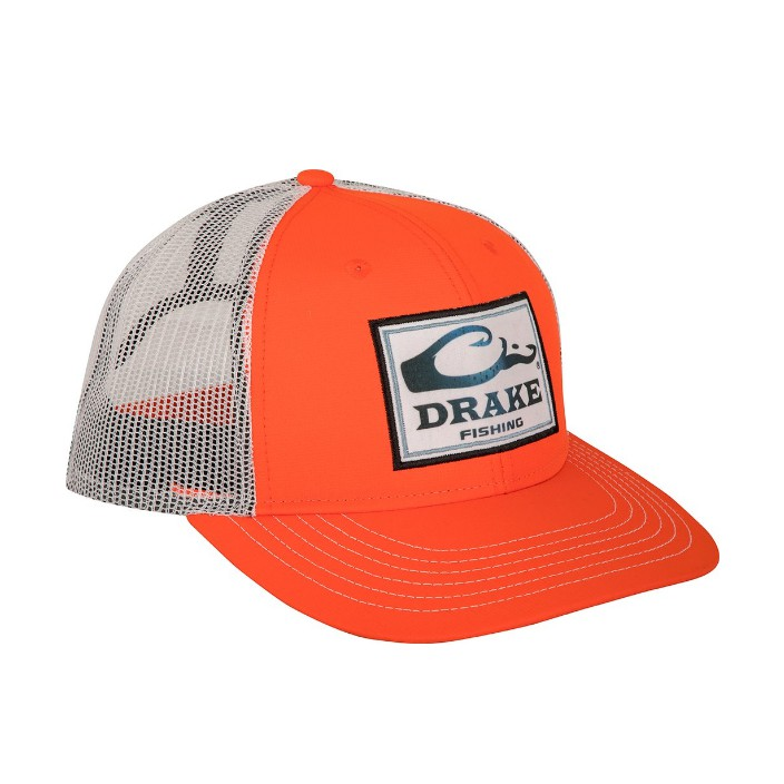 Drake Fishing Square Patch Mesh Back Cap