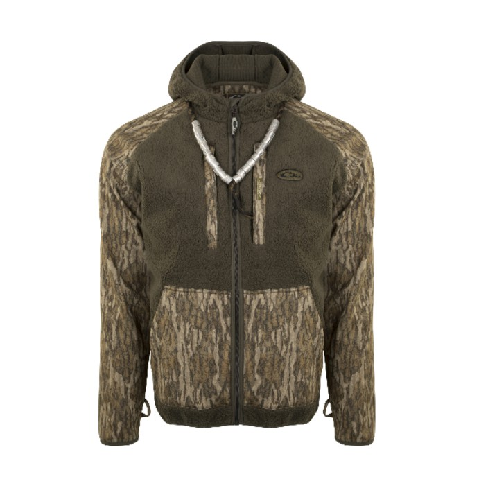 Drake MST Sherpa Fleece Hybrid Liner Full Zip with Hood