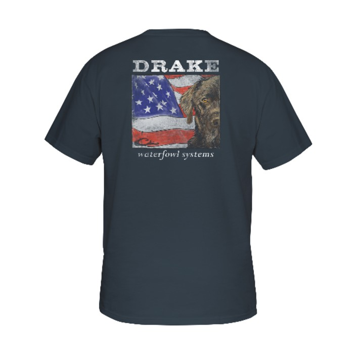 Drake Southern Collection Patriotic Lab T S/S