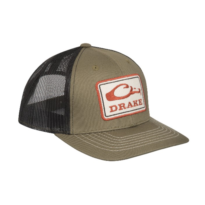 Drake Square Patch Mesh Back Cap
