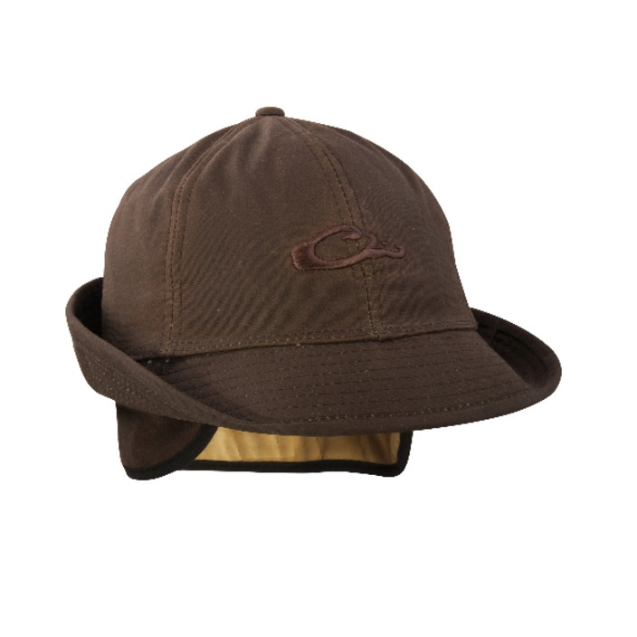 Drake Waxed Jones Hat Brown
