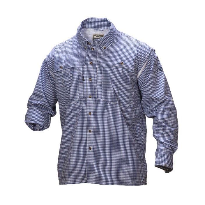 Drake Wingshooter's Gingham Plaid Shirt L/S