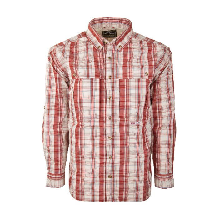 Drake Wingshooter's Madras Plaid L/S Shirt