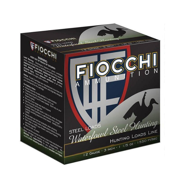 Fiocchi 12 Gauge Steel Shot 3.5 1-3/8oz 1235STBB