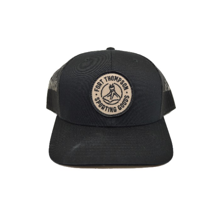 Fort Thompson Capture Pre-Curved Trucker Black