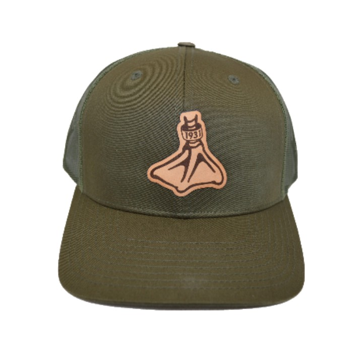 Fort Thompson Catpure Pre-Curve Trucker Duck Foot Loden
