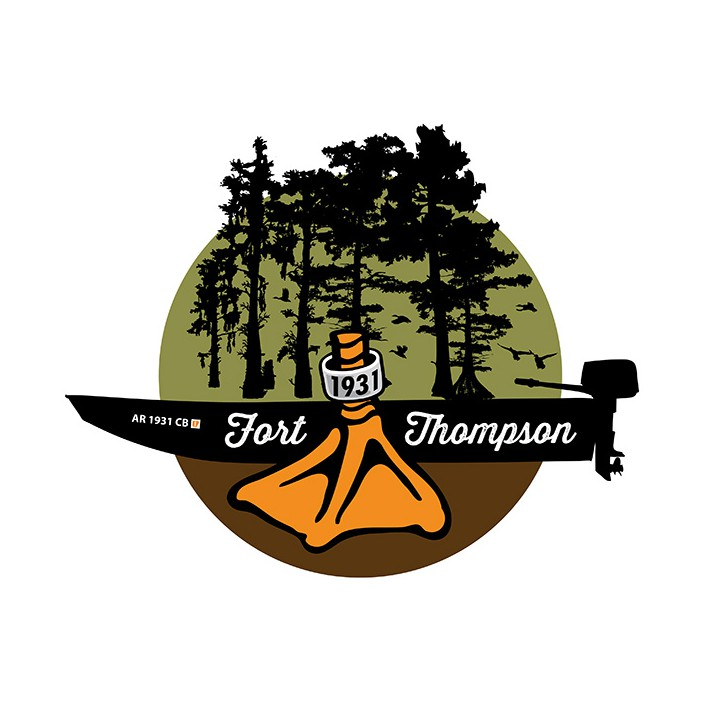 Fort Thompson Cypress Boat Sticker