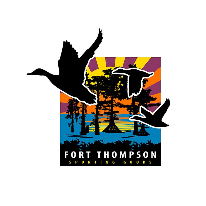 Fort Thompson Cypress Sunrise Sticker