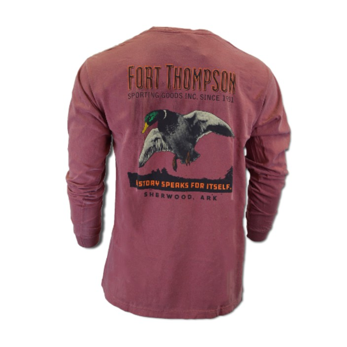 Fort Thompson Duck Poster Long Sleeve Tee