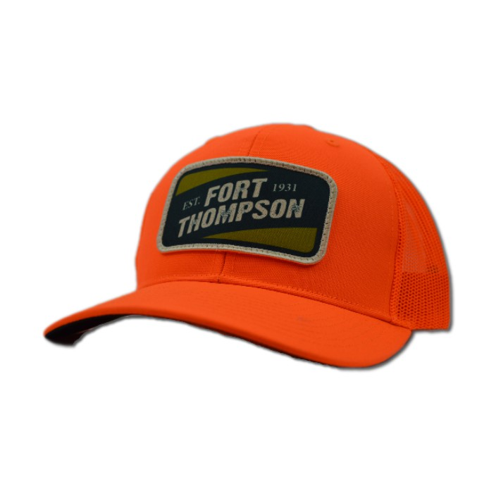 Fort Thompson Mesh Back Patch Cap Blaze Orange