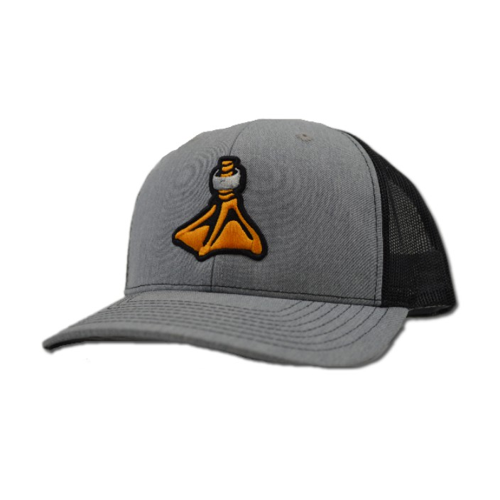 Fort Thompson Split Heather Gray Black Hat
