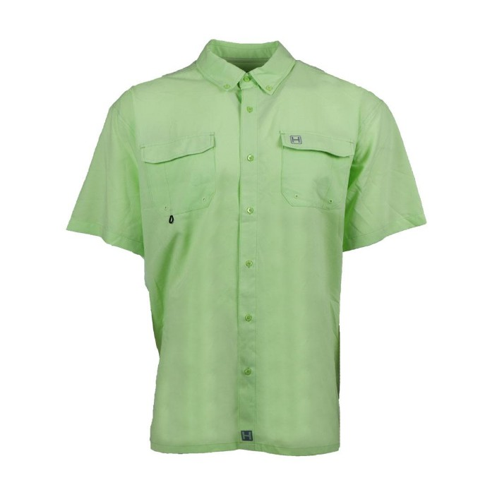 Heybo Boca Grande S/S Fishing Shirt Patina Green