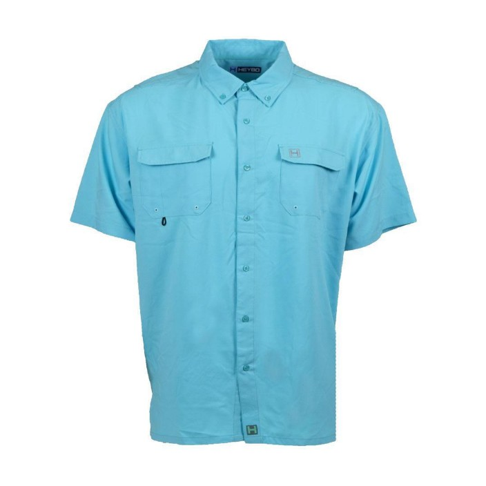Heybo Edisto Banks Seafoam S/S Fishing Shirt