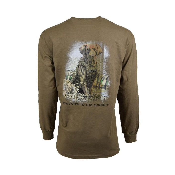 Heybo Rock Chocolate Lab L/S Cotton Tee