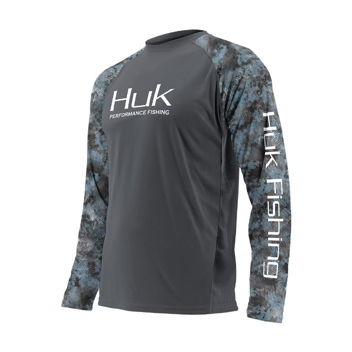 Huk L/S Performance Camo Vented