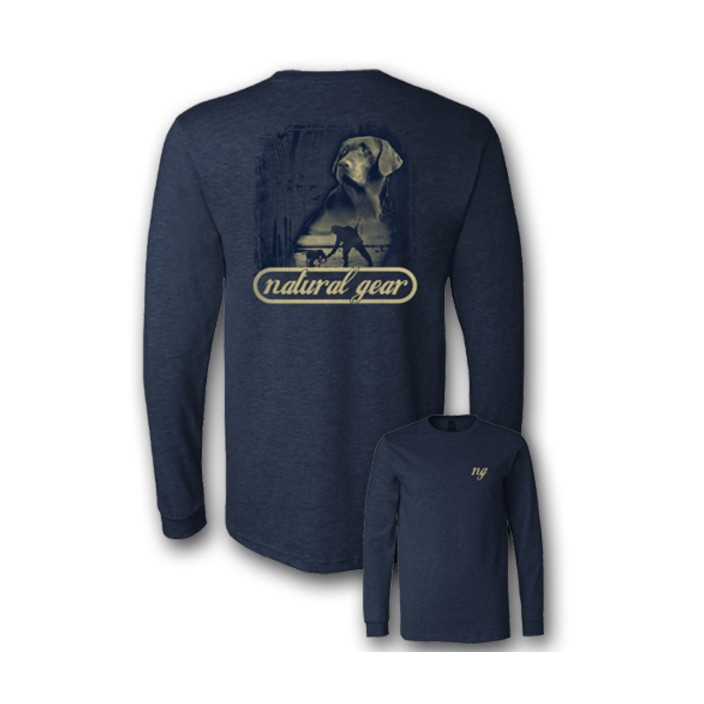 Natural Gear L/S Duck Dog Tee Navy