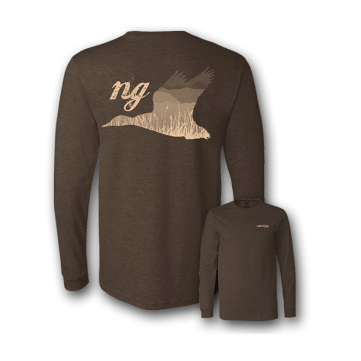 Natural Gear L/S Duck Grass Tee
