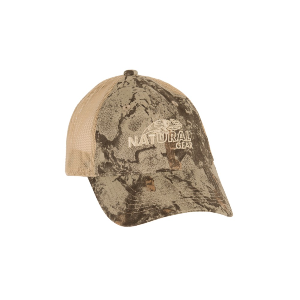 Natural Gear Mesh Backed Baseball Cap