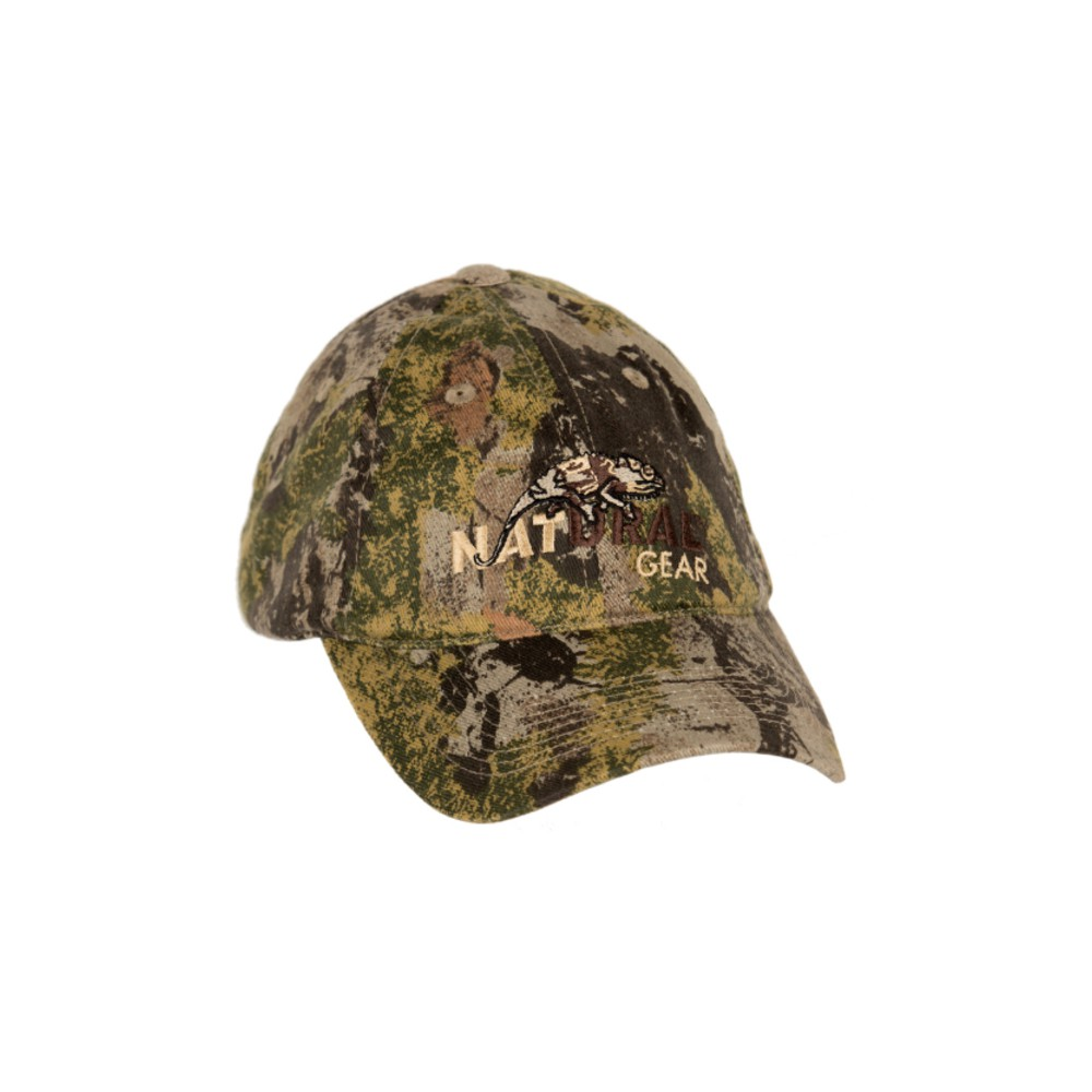 Natural Gear SCII 6 Panel Logo Baseball Cap