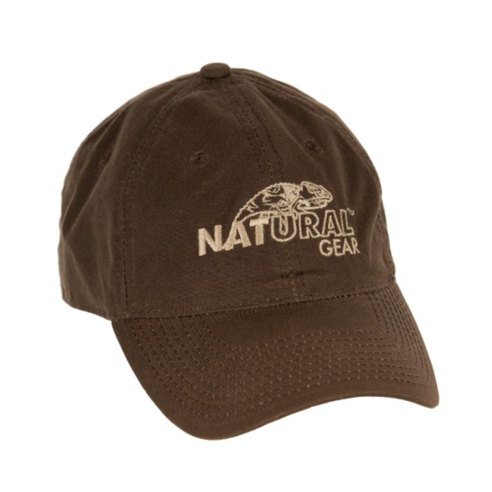 Natural Gear Waxed Canvas Logo Cap