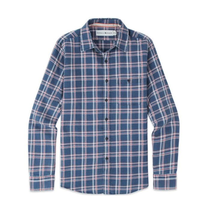 The Normal Brand Frankfort Indigo Twill Plaid