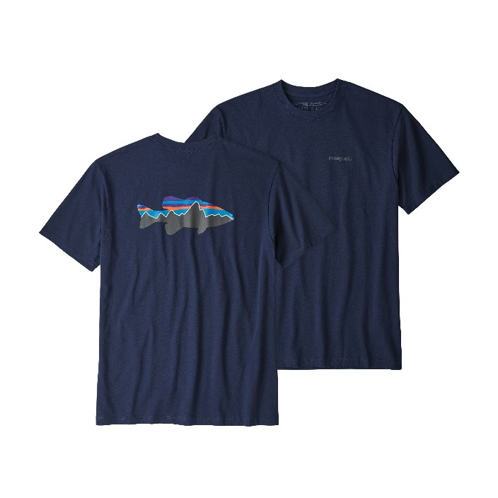 Patagonia Men's Fitz Roy Smallmouth Responsibili-Tee