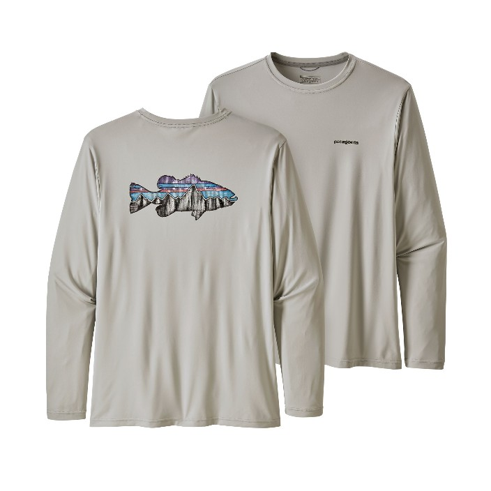 Patagonia Men's Long-Sleeved Daily Fish Graphic Shirt