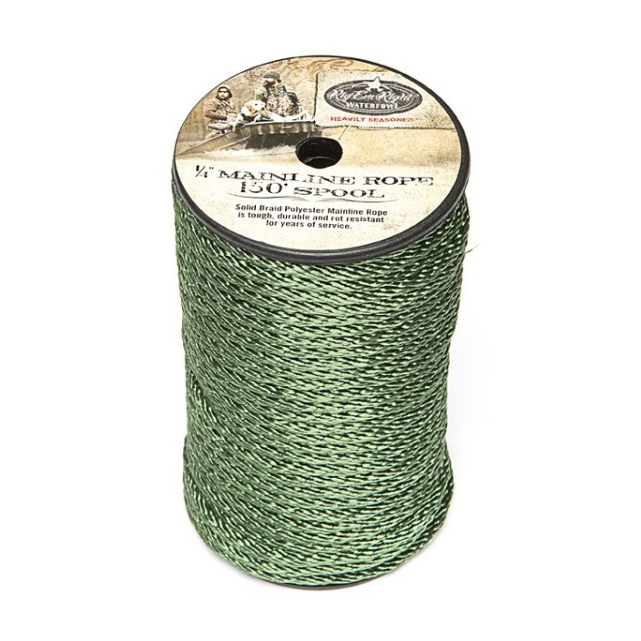 Rig 'em Right 1/4' Mainline Rope 150' Spool
