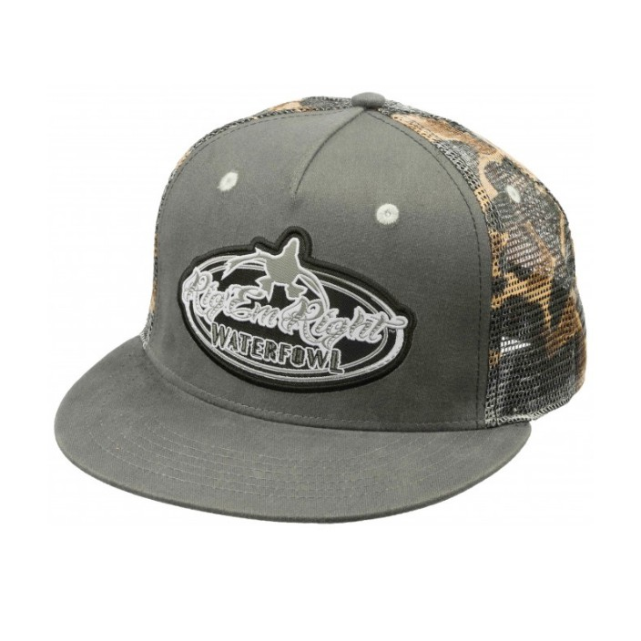 Rig 'em Right Gray/Camo Trucker Hat