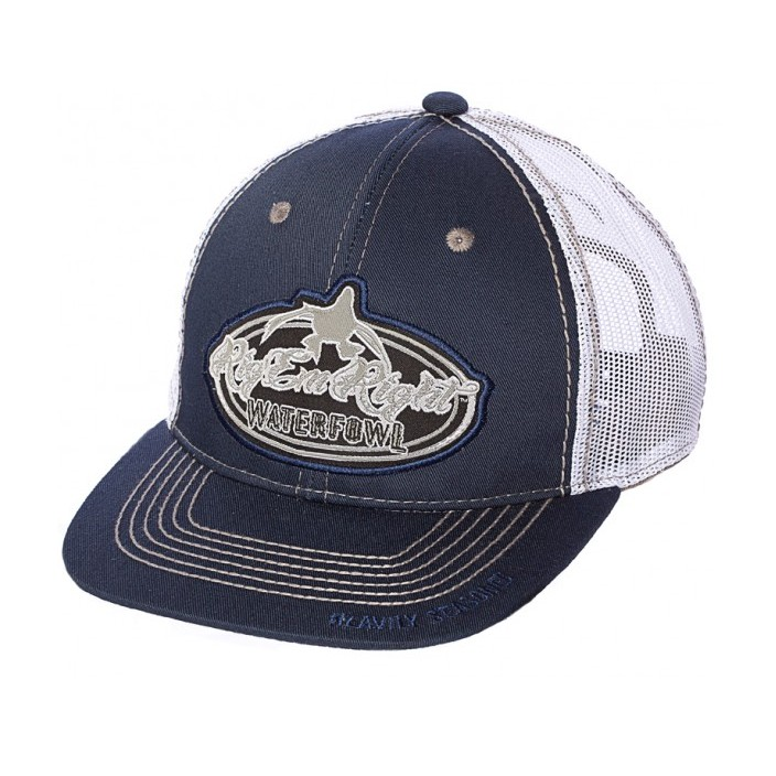 Rig 'em Right Navy and White Trucker Hat