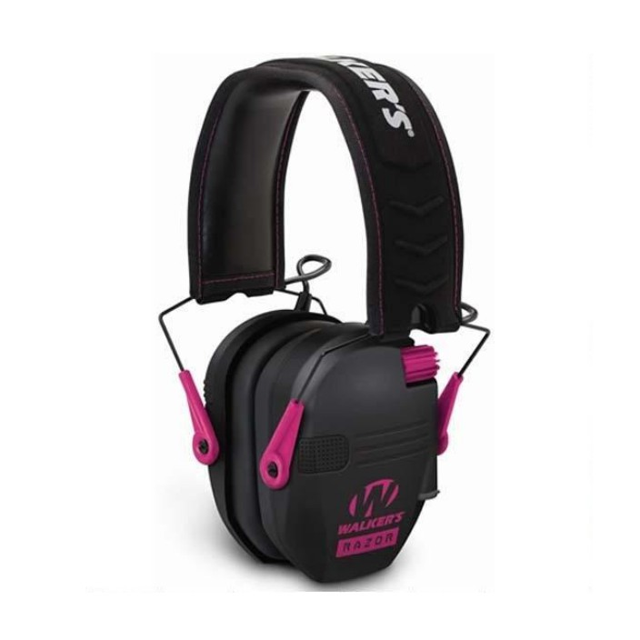 Walkers Razor Slim Elec Muff Black With Pink Accent