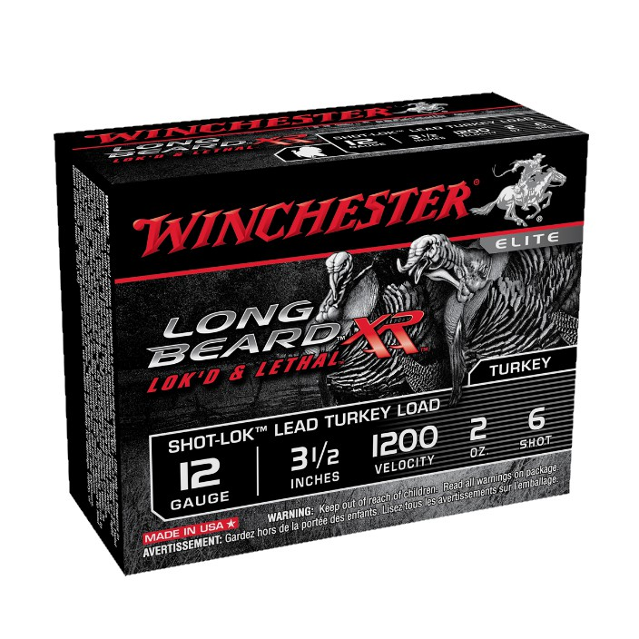 "Winchester Ammo STLB12L6 Long Beard XR Shot-Lok Turkey 12 Gauge 3.5"" 2 oz 6 Shot 10 Bx/ 10 Cs"