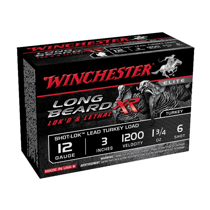 Winchester Long Beard XR Turkey Load STLB1236 12G 3'' 6 Shot