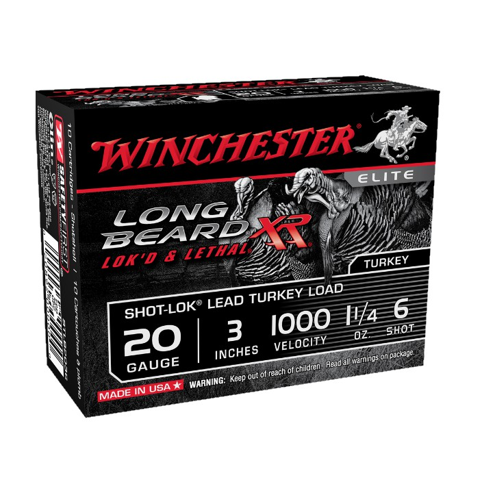 Winchester Long Beard XR Turkey Load STLB2036 20G 3'' #6