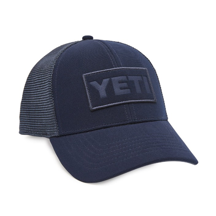 Yeti Navy on Navy Patch Logo Hat